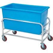 """Winholt Aluminum Bulk Mover 8 Bushel 30-8-AL/BL with Blue Tub38-1/2""""L x 22""""W x 32""""H"""