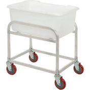 "Winholt Aluminum Bulk Mover 3 Bushel BLC-1 with White Tub, 30""L x 19""W x 32""H"