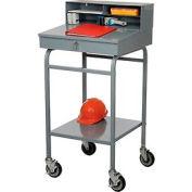 """Steel Receiving Desk, Mobile, 22""""W"""