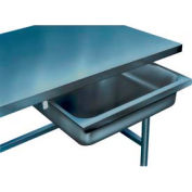 """Drawer for Winholt Poly Top Work Tables - 304 Stainless Steel 24""""W"""