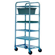 "Winholt Aluminum Universal Cart UNAL-6  6 Shelves, 27""L x 21""W x 67""H, No Lugs"