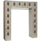 """Winholt Garment 16 Person Locker WL-16/CB 72""""W x 18""""D x 78""""H Putty Assembled"""