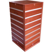 Slatwall Counter Top Cube Display Fixture-Cherry with Spinner Base
