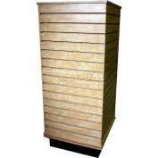 Slatwall Cube Display Fixture-Birch with Spinner Base and Casters