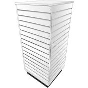 Slatwall Cube Display Fixture-White with Spinner Base and Casters