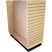Slatwall H Display Fixture-Birch with Casters