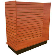 Slatwall H Display Fixture-Cherry with Casters
