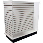 Slatwall H Display Fixture-White with Casters