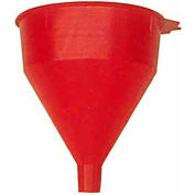 Funnel King® Red Safety Polyethylene 2 Quart Funnel w/ 60 Micron Filter Screen - 32002 - Pkg Qty 12