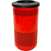 Stadium Series® 35 Gallon Receptacle w/Flat Top Lid, Red Baron - SC35-01-RD-FT
