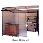 Husky Rack & Wire Preconfigured Room 2 Sided 20' W x 10' D x 10' H w/ 5' W Slide Door w/Ceiling