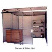 Husky Rack & Wire Preconfigured Room 3 Sided 30' W x 20' D x 10' H w/ 5' W Slide Door w/Ceiling