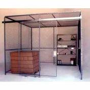 Husky Rack & Wire Preconfigured Room 4 Sided 10' W x 10' D x 10' H w/ 5' W Slide Door w/Ceiling