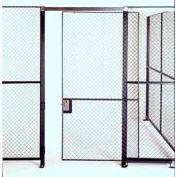 Husky Rack & Wire Single Swing Door 3' Wide x 7' Tall With 1Ft. Transom