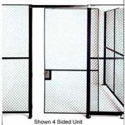 Husky Rack & Wire Single Swing Door 3' Wide x 7' Tall With 3Ft. Transom