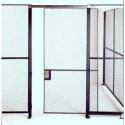 Husky Rack & Wire Single Swing Door 4' Wide x 7' Tall With 1Ft. Transom