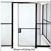 Husky Rack & Wire Single Slide Door 3' x 7' Tall, W/1 Ft. Transom