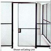 Husky Rack & Wire Single Slide Door 4' x 7' Tall, W/1 Ft. Transom