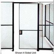 Husky Rack & Wire Full Height Single Sliding Door 5' Wide x 7' Tall