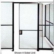 Husky Rack & Wire Full Height Single Sliding Door 8' Wide x 8' Tall