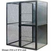 """Husky Rack & Wire Tenant Locker Double Tier Starter Unit  3' W x 5' D x 7'-6"""" Tall W/Ceiling"""