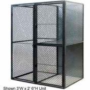 """Husky Rack & Wire Tenant Locker Double Tier Starter Unit  4' W x 3' D x 7'-6"""" Tall W/Ceiling"""