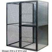 """Husky Rack & Wire Tenant Locker Double Tier Starter Unit  4' W x 4' D x 7'-6"""" Tall W/Ceiling"""