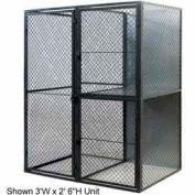"Husky Rack & Wire Tenant Locker Double Tier Add-On Unit  4' W x 4' D x 7'-6"" Tall W/Ceiling"
