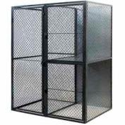 "Husky Rack & Wire Tenant Locker Single Tier Starter Unit  4' W x 3' D x 7'-6"" Tall W/Ceiling"