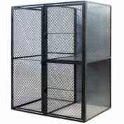 "Husky Rack & Wire Tenant Locker Single Tier Starter Unit  4' W x 4' D x 7'-6"" Tall W/Ceiling"