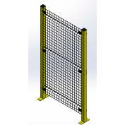 "Husky Rack & Wire, Velox, Machine Guard Panel, 6' 10""W x 2'H, Black"