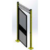 "Husky Rack & Wire Matrix Guard Door, 3'W x 6' 6""H w/1ft Transom, HRSO, Black"