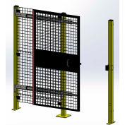 "Husky Rack & Wire,Velox, Machine Guard,Tunnel Door, Single 5'W x 7' 6""H, Slide Right to Open, Black"