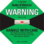 SpotSee™ ShockWatch® 100G Range Impact Indicators, Green, Box of 50