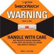SpotSee™ ShockWatch® 75G Range Impact Indicators, Orange, Box of 50