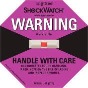 SpotSee™ ShockWatch® 75G Range Impact Indicators, Purple, Box of 50