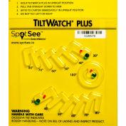 SpotSee™ TiltWatch® Plus Tilt Indicator for Degree of Tilt Or Complete Overturn, Box of 50