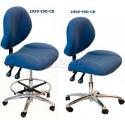 "WSI 2000 Series Chair 2000-CB-ESD-BK, ESD Fabric, Chrome Base, 18""-23""H, Black"
