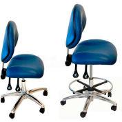 "WSI 2050 Series Chair 2050-CB-CRV-BK, Clean-Room Vinyl, Chrome Base, 21""-31""H, Black"