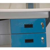 "WSI Box Drawer Cabinet 3B-B, Three 6"", Blue"