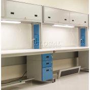 """WSI Modular Work Bench Adder C2-SPA-3048-75WGB, C2 Series, 30""""D X 48""""W X 75""""H, White Laminate"""