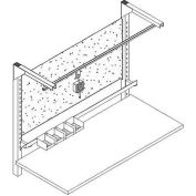 """WSI Overhead Tool Trolley C2HDTT-72, C2 Series, Heavy Duty, For 72"""" Benches, Black"""