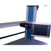"""WSI ESD Steel Shelf C2SS1230E-WG, C2 Series, 12""""D X 30""""W, White Laminate, Grey Epoxy"""