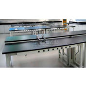 "WSI Adjustable Work Bench PB3060CL-BG, Laboratory, 30""D X 60""W X 75""H, Black Laminate, Grey Epoxy"