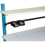 "WSI Parts Cup Rail PBPCR96-B, PB Series, For 96"" Bench, Black"