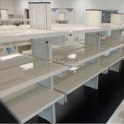 "WSI ESD Steel Shelf PBSS1272E-WG, PB Series, 12""D X 72""W, White Laminate, Grey Epoxy"