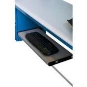 "WSI Slide Out Keyboard Shelf SKB, 12""D X 24""W, Grey Epoxy"