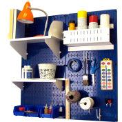 "Wall Control Pegboard Hobby Craft Organizer Storage Kit, Blue/White, 32"" X 32"" X 9"""