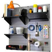 "Wall Control Pegboard Hobby Craft Organizer Storage Kit, Gray/Black, 32"" X 32"" X 9"""