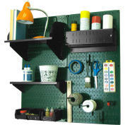 "Wall Control Pegboard Hobby Craft Organizer Storage Kit, Green/Black, 32"" X 32"" X 9"""